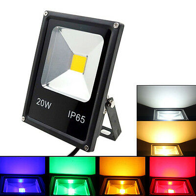 10W 20W 30W 50W LED Flood Light Cool Warm White Outdoor Slim Spotlight black