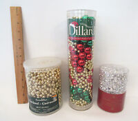 Christmas Bead Garland Lot 3 Never Opened Packages 60' 30' And 30' Dillard's