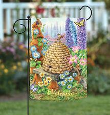Toland Home Garden 119747 Welcome Bee Hive Birdies Garden Flag