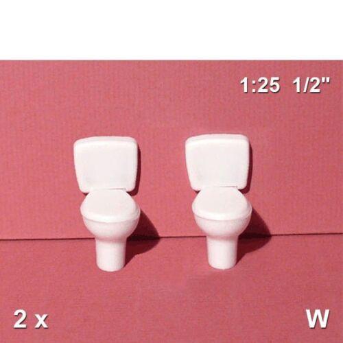 3,73€//Stück Toilette mit Spülkasten 1:25 2 Stück Schulcz 57.70991.2 weiß