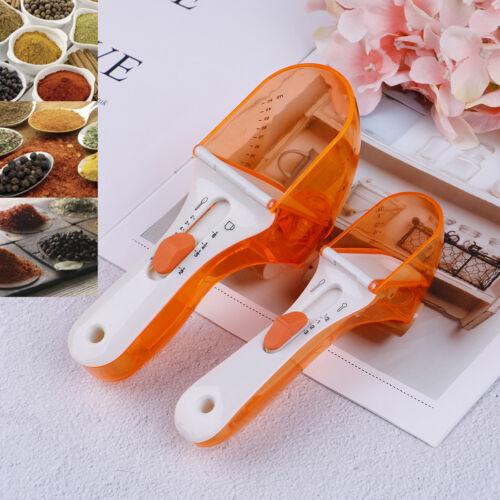 Design adjustable measuring spoon plastic cool measuring tool cup teaspoons s!