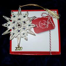 Lenox 2020 Optic Snowflake Ornament 0.20 LB Clear