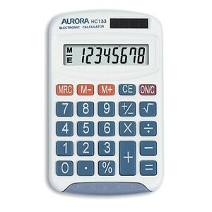 Aurora-HC-133-Twin-power-Pocket-Calculator
