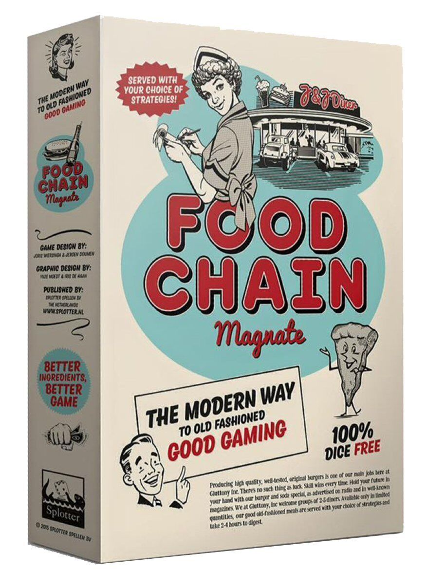 Food Chain Magnate [Board Game, Splotter, 2-5 Players, 2-4 Hours, Ages 14+] NEW