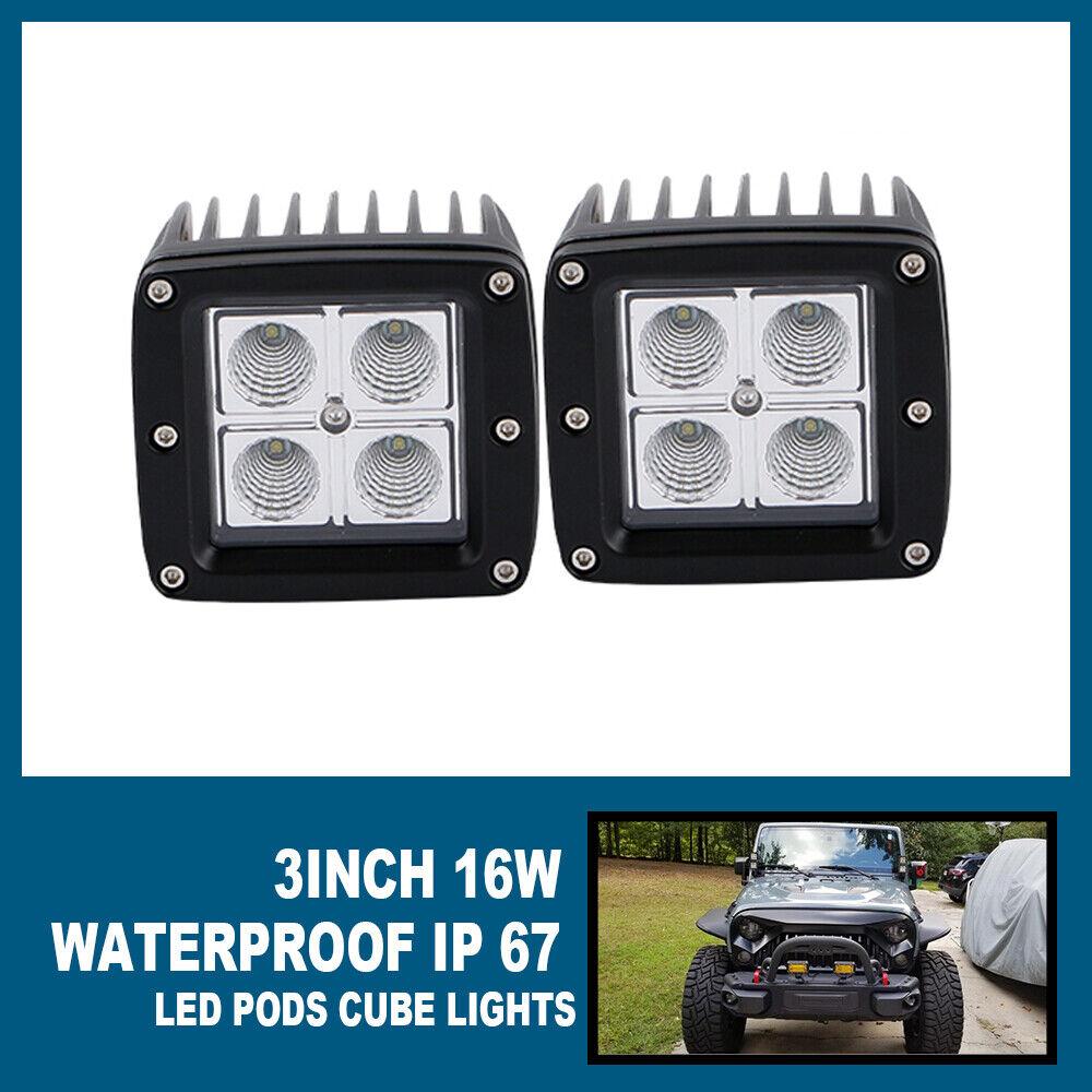 KAWELL 18W CREE Off Road Ultra-thin 60 Degree LED Flood Light For Jeep//truck//atv
