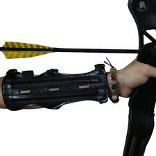 1pc Black New Shooting Archery Arrow 3 Strap Arm Guard Protection Safe Armband