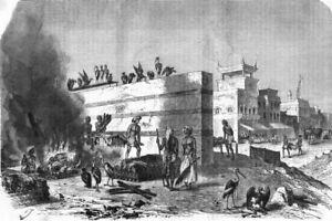 Discret India. Cremation Ghat At Kolkata 1870 Old Antique Vintage Print Picture Pour Aider à DigéRer Les Aliments Gras