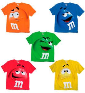 Adultes-et-jeunes-enfants-m-amp-m-039-m-amp-m-Visage-Chocolat-Candy-Costume-T-shirt-Tee-M-M-shirt
