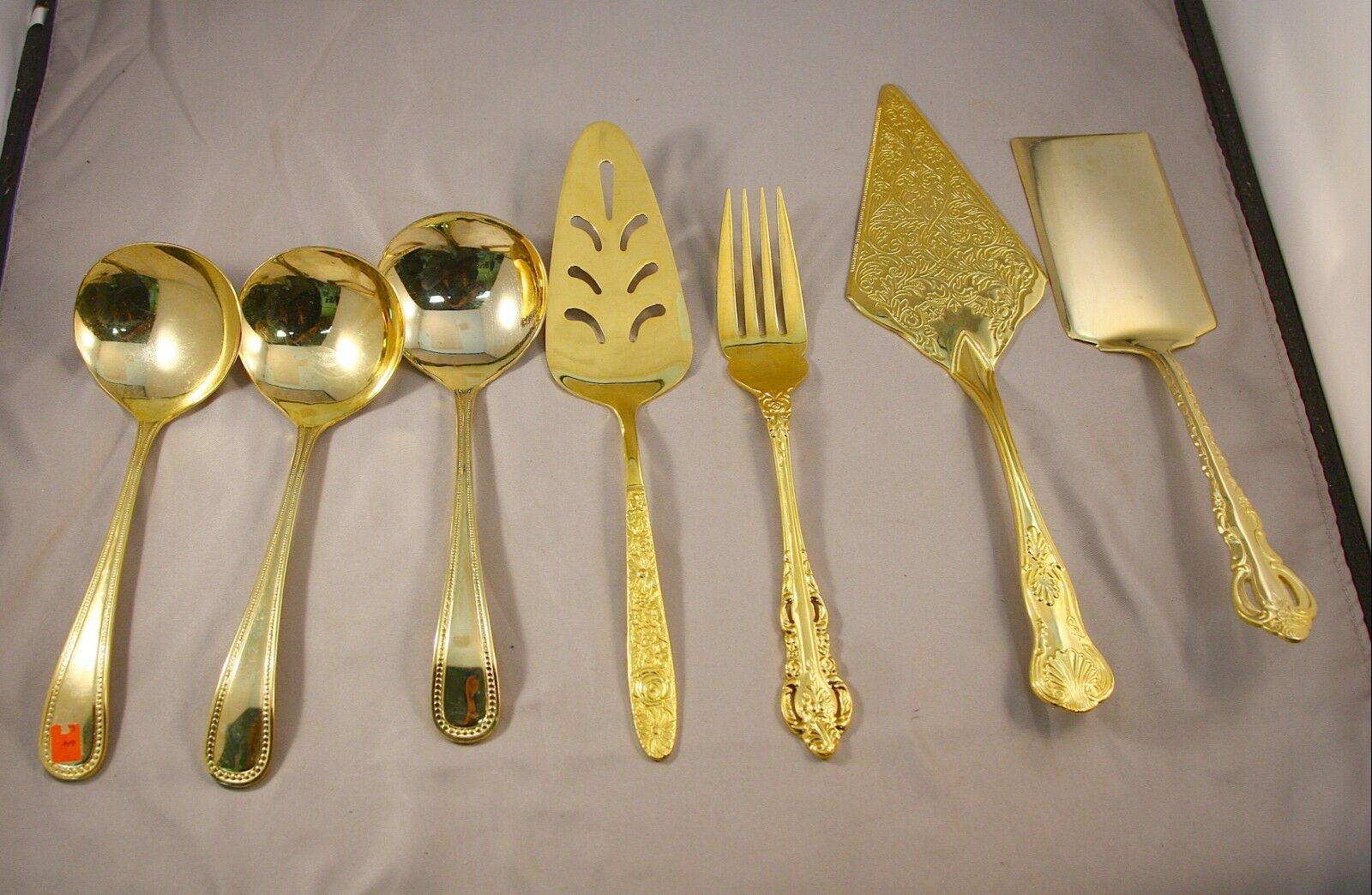 Assorted Lot  29 Piece or Plated Serving Flatware Mixed Patterns