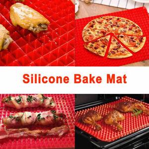 Silicone Baking Tray Pyramid Sheets Mat Pan Non Stick Fat