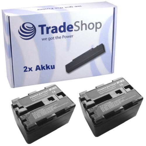 2x AKKU für SONY DCR-TRV-14E TRV-15 TRV-15E TRV-16