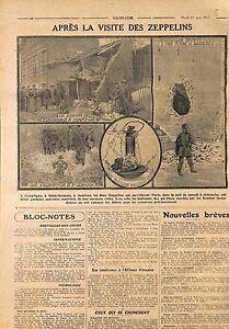 Airship-Dirigeable-Zeppelins-LZ-Heer-Bombes-Paris-Asnieres-Compiegne-WWI-1915