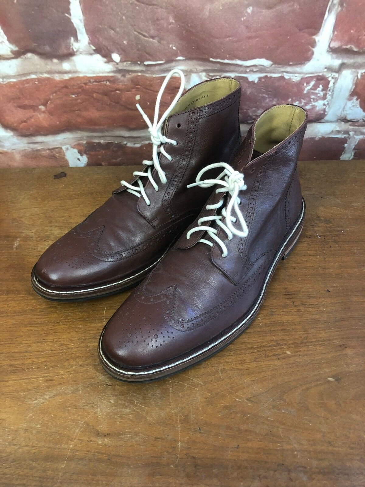 295.00 Cole Haan 11.5 Williams Oxblood Wingtip Ankle new shoes Boots