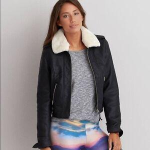 Outfitters Kvinders Eagle Flight Amerikanske Nye Black Medium Jacket Vegan Leather tPwqgF
