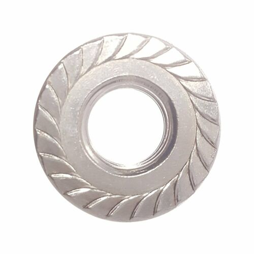 1//2-13 Stainless Steel Flange Nuts Serrated Base Lock Anti Vibration Qty 100