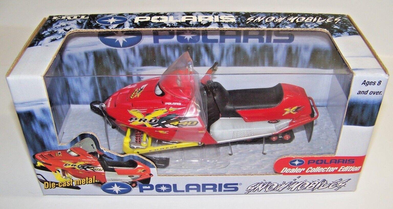 2001 Toy Ertl Diecast Metal 1 18 Scale Red Polaris Snowmobile Pro-X440 C4