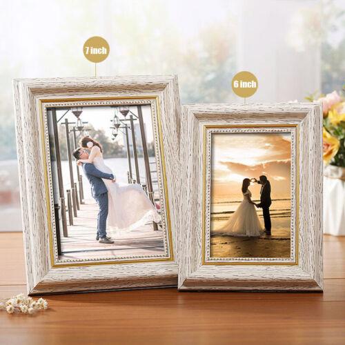 Vintage Photo Frame Home Decor Wooden Wedding Wall Desktop Pictures Frames Gift