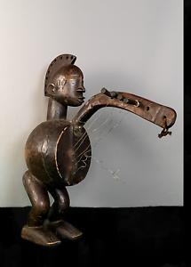 Primitiva tribale africana Dan Musical String Figura... COSTA D'AVORIO ADE 3
