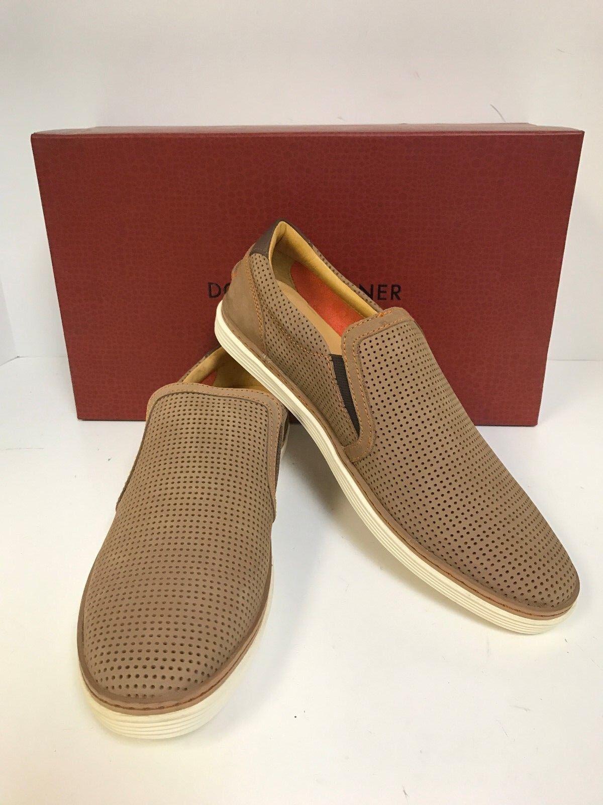 Donald Pliner Travis-03 Brown Perfed Nubuck Slipon Sneaker - Men's