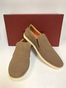 Donald-Pliner-Travis-03-Brown-Perfed-Nubuck-Slipon-Sneaker-Men-039-s