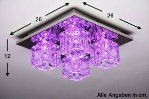 Design LED RGB  Farbwechsel Deckenleuchte mit Fernbedienung Lampe Deckenlampe