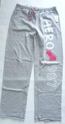 Womens AEROPOSTALE Aero Fleece Knit Dorm Pants Knit Pant Sweatpants NWT #9872