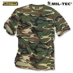 Maglia T-SHIRT MILTEC Maglietta Militare Woodland Mimetica Softair ... c7e1ef8a9644