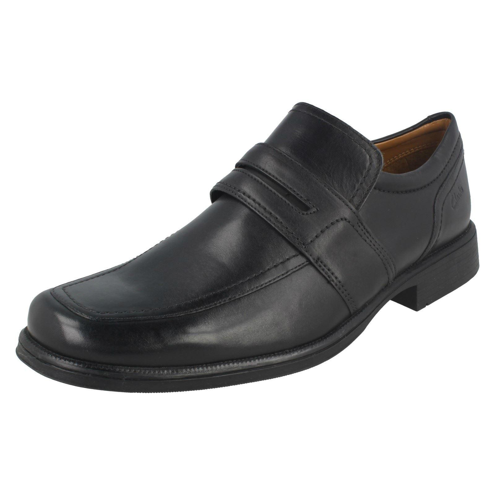 Herren Herren Herren Clarks Formal Slip On Schuhes Huckley Work e38fb5