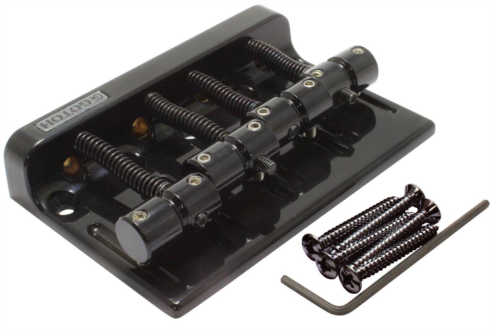Gotoh 201b-4 bajo 4-cuerdas Puente 2 1 4 4 4  de separación-Negro  Para tu estilo de juego a los precios más baratos.