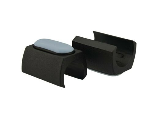 4 x Klemmschalengleiter PTFE Ø 16-17mm schwarz Zapfen Stuhlgleiter Freischwinger