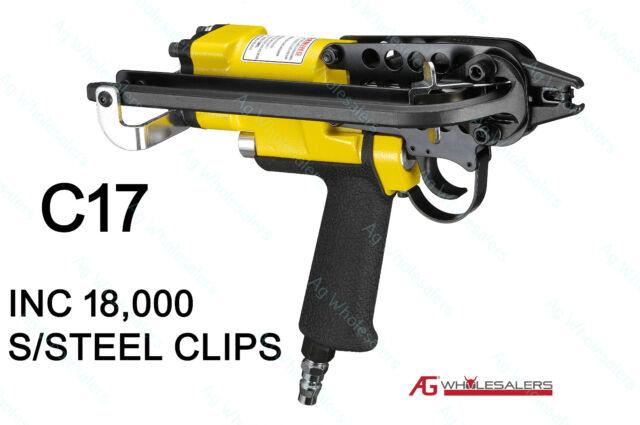10,000 STAINLESS STEEL C7 HOG RING C CLIPS JAMBRO STLYE PLIER FENCING SR8 GUN