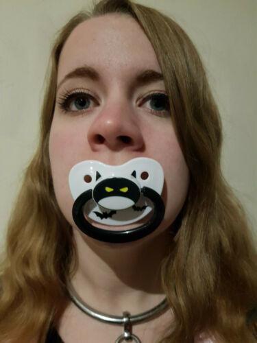 Adulte Sucette Anneau de dentition Mannequin du Dotty Diaper Spooky Chauves-Souris Design