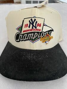 NWT Vintage New York Yankees Hat 1996 American League Champions Rare! 1021
