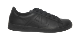 Jeans Uk Low 7 Leather Black Trainers Armani gO6qxSRgw
