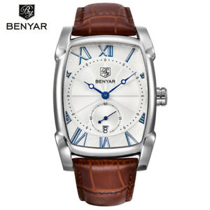 BENYAR-5114-Rectangle-Men-Luxury-Calendar-Quartz-Sports-Leather-Strap-Watch