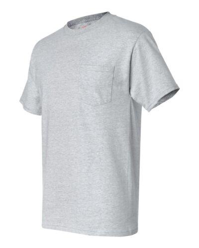100/% Cotton 5190 Mens S-3XL Tee Hanes Beefy-T TAGLESS POCKET T-Shirt NEW 6.1 oz