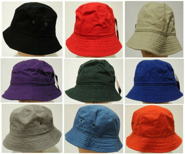44938e79944 100 Cotton Summer Safari Hiking Bucket Hat Sun Crushable Fisherman ...