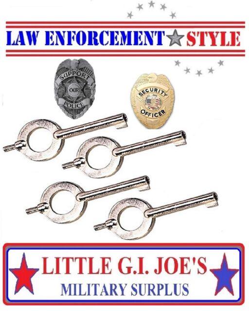 CUFF KEYS 4 NEW STANDARD Universal Handcuff Key Police Sheriff 10094 YOU GET