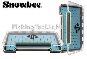 Snowbee-Slimline-Silicone-Foam-Fly-Box-Small-or-Competition-Sizes-Flies-Fishing