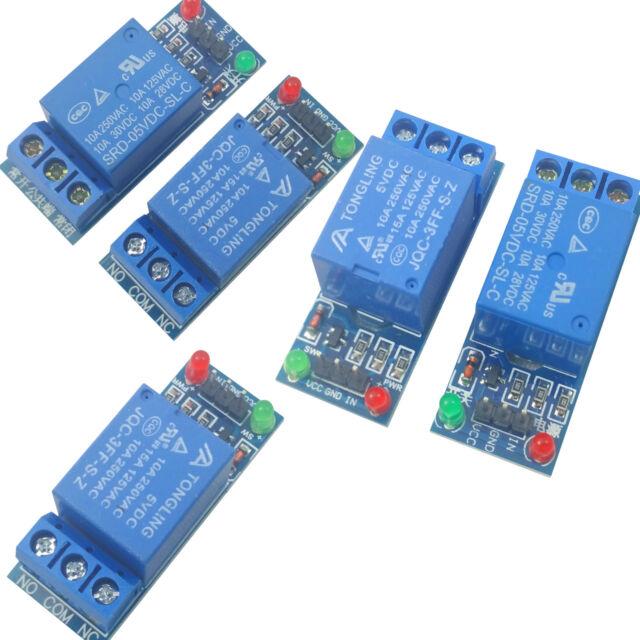 5pcs 5V Single 1 Channel Relay Module Board Shield For Arduino Raspberry PI USA