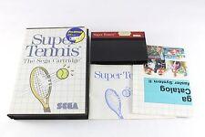 Sega Master System Game Super Tennis Boxed Complete PAL