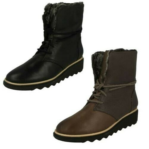 Womens-Clarks Winter Boots Sharon Pearl