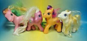 4 - G3 My Little Pony MLP Brushable Rare Horse Bundle Lot Era 2002-2006 Ponies`