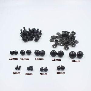 Black-Plastic-Safety-Eyes-For-Teddy-Bear-Dolls-Toy-Animal-Felting-6-24mm