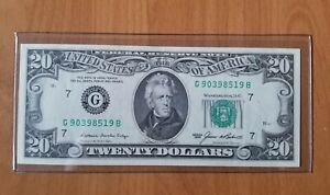 US-20-1985-series-Small-Face-FRN-AU-condition-paper-note