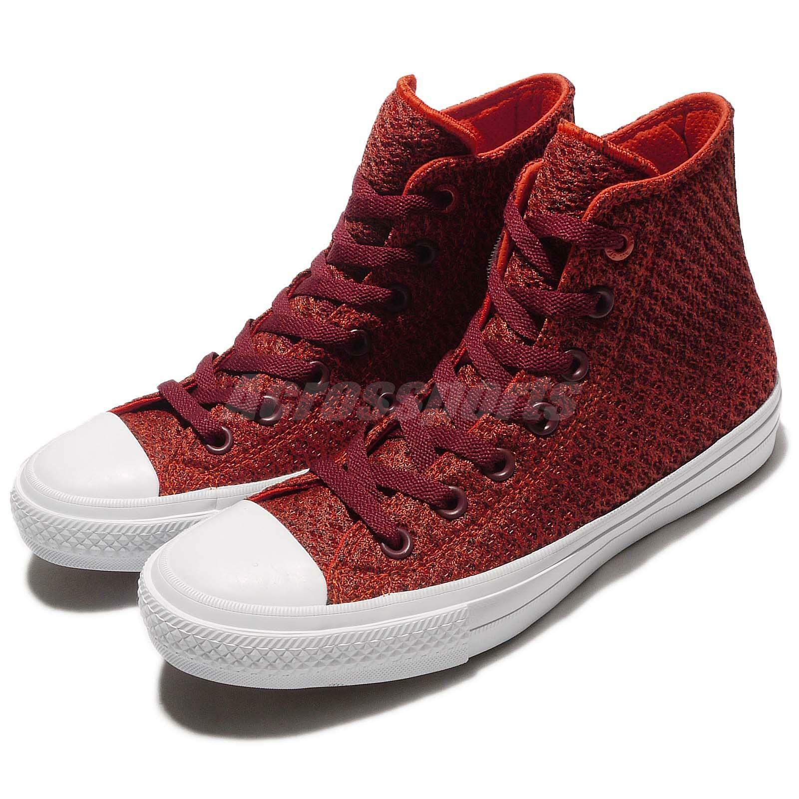 11086d01d77706 Converse Chuck Taylor All Star Star Star II Spacer Mesh Red Mens Casual  Shoes 154019C 19adb8