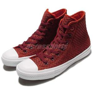 Dettagli su Converse Chuck Taylor All Star II Spacer Mesh Red Mens Casual Shoes 154019C