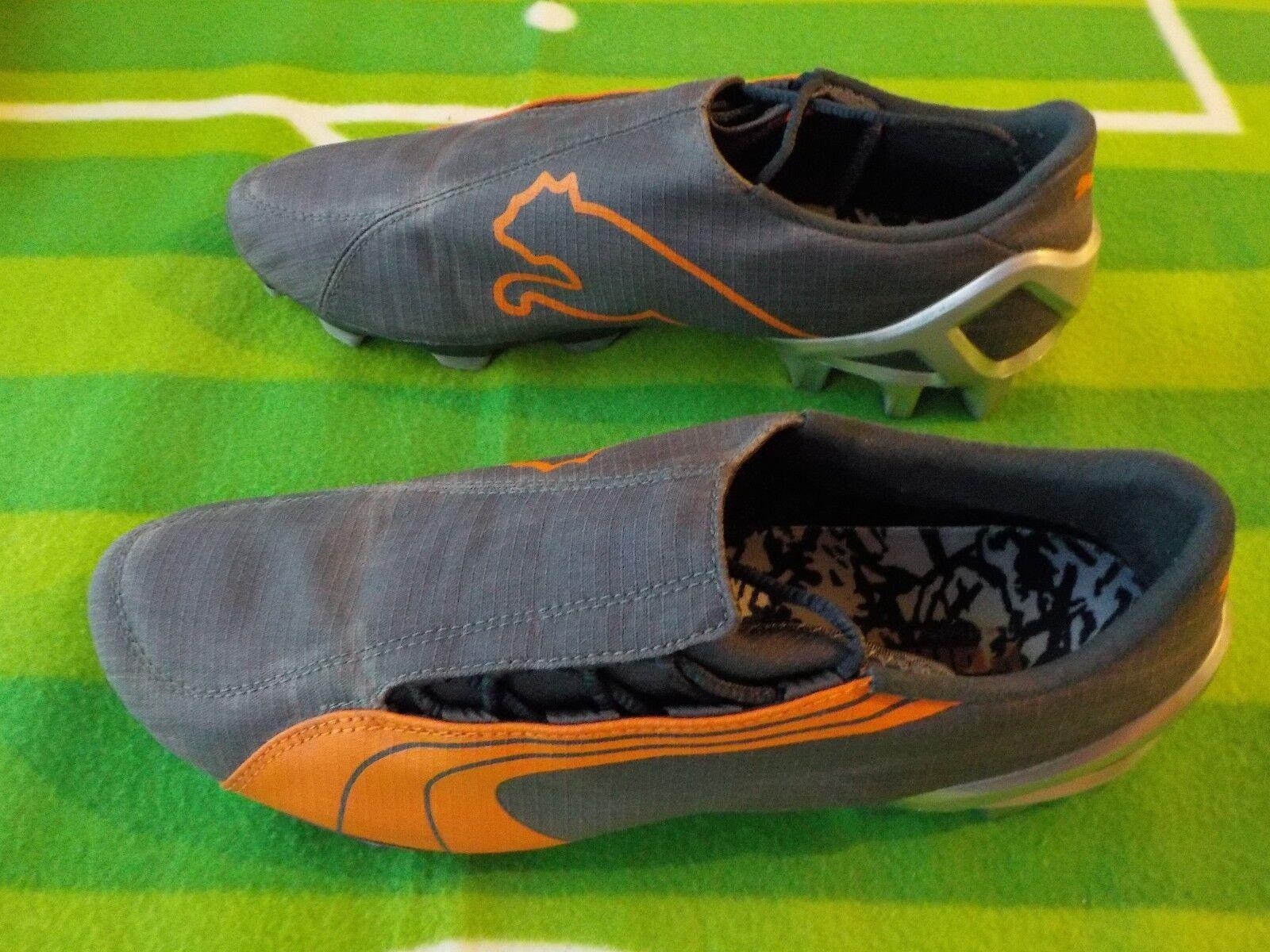 Puma v1.06 FG Fußballschuhe   schwarz Orange   EUR 42 UK 8 US 9   guter Zustand  | Ästhetisches Aussehen