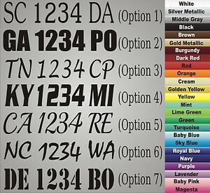Boat Jet Ski Registration Number Letters Custom Set Pair - Custom vinyl decals numbers