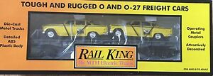 MTH-30-7625-AUTO-TRANSPORT-FLATCAR-WITH-ERTL-59-TAXIS